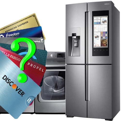 Which credit card is the best for extended warranty on appliances.
